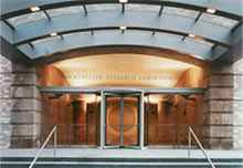 entrance to the Rockefeller Research Labs at MSK
