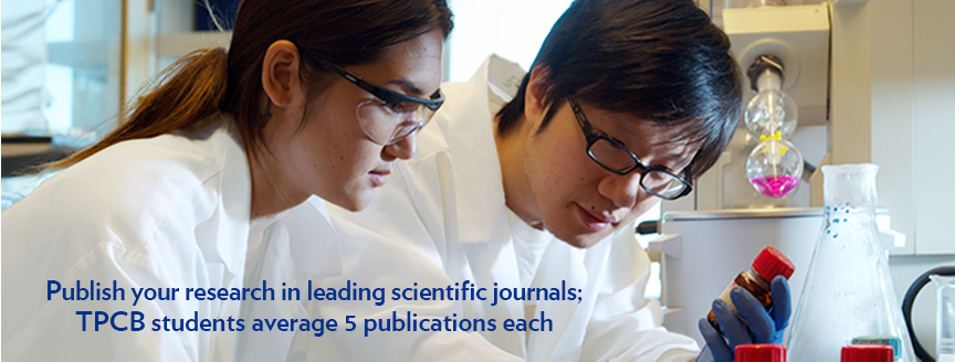 TPCB benefits: Publish your research in leading scientific journals – TPCB graduates average over 5 publications each