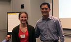 Poster prize winner Michaelyn Lux with TPCB Director Derek Tan