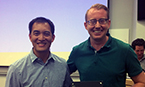 Poster prize winner Dr. Nathan Westcott with TPCB Director Derek Tan