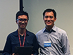 First-year poster prize winner Chen Chen with TPCB Director Derek Tan
