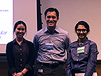 Student poster prize winners Ashley Chui and Sahana Rao with TPCB Director Derek Tan