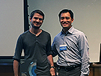 Student poster prize winner Zac Han with TPCB Director Derek Tan