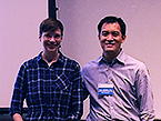 Postdoc poster prize winner Eva-Marie Weick with TPCB Director Derek Tan