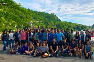 Photo of TPCB students at the 2018 retreat