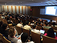 Symposium attendees listent to a seminar by Prof. Nieng Yan