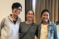 Winners of 3-Minute Thesis talk awards at the 2019 Retreat