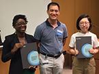 2019 Tri-I Chem Bio Symposium - Graduate student poster award winners - Wola Osunsade, Qian Hou
