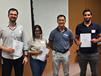 2019 Tri-I Chem Bio Symposium - Graduate Student Poster Award Winners - Rudy Pisa, Tandrila Das, Igor Maksimovic