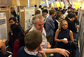 2019 Tri-I Chem Bio Symposium - poster session - Dominic Rufa and Professor Tim Ryan
