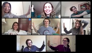 TPCB first-year students socialize on Zoom