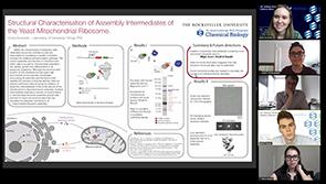 TPCB student Chloe Burnside presents her poster at the 2020 Tri-I Chemical Biology Symposium