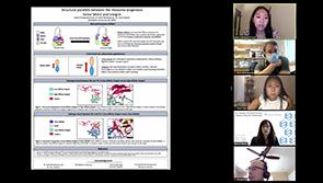 ChBSP student Joann Chongsaritsinsuk presents her poster at the 2020 Tri-I Chemical Biology Symposium