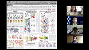 TPCB student Emily Rundlet presents her poster at the 2020 Tri-I Chemical Biology Symposium